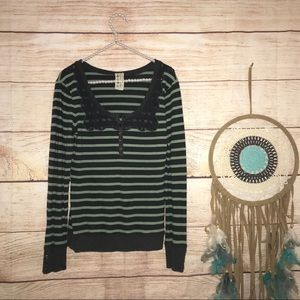 Free people size large striped Henley t shirt